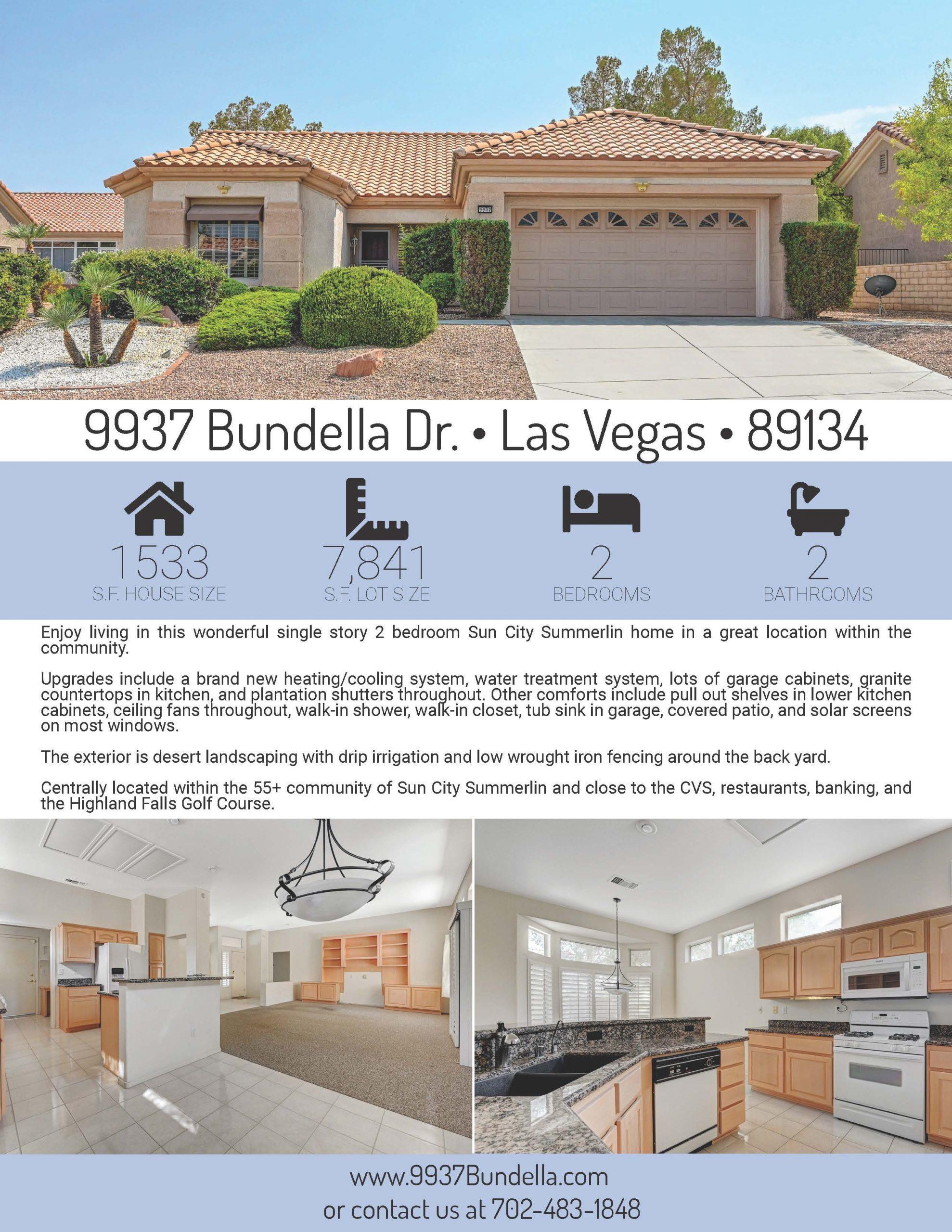 9937 Bundella Property Flyer Page 1